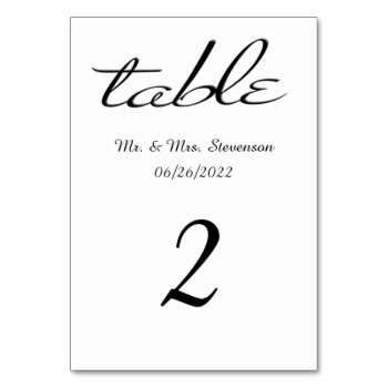 White with Black Name and Date Card