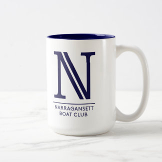 White with Blue interior 15 oz Two-Tone Mug