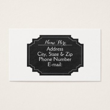 Professional Business White with Chalkboard Business Cards