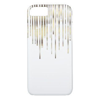 White with Gold Strands Coins Discs Luxury Sparkle iPhone 8/7 Case