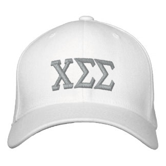 White with Grey Letters Embroidered Baseball Cap