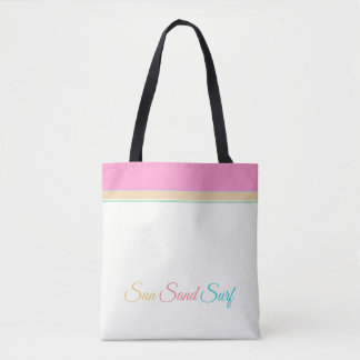 White with Pink Orange and Aqua > Summer Totes