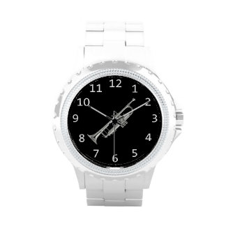 White with silver Trumpet Wristwatch
