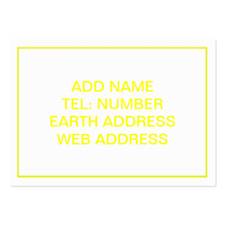 White with Yellow Frame Business Card Templates