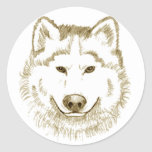 White Wolf 2 Pegatina Redonda