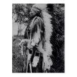 White Wolf, a Comanche Chief, c.1891-98 Postcard