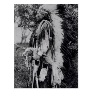 White Wolf, a Comanche Chief, c.1891-98 Postcard