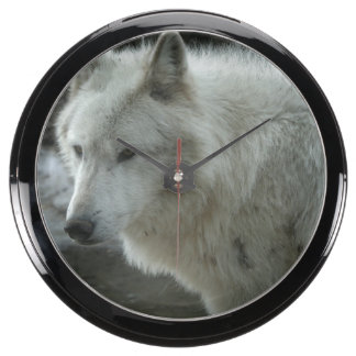 White Wolf Aquavista Clock