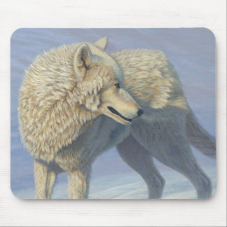 "White Wolf ""Arctic Gaze"" 2 - Mouse Pad"