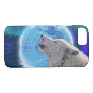 White Wolf & Arctic Moon Wolf-Lover Wildlife iPhone 8/7 Case