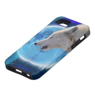White Wolf & Arctic Moon Wolf-Lover Wildlife iPhone SE/5/5s Case