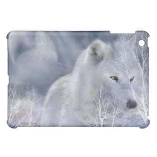 White Wolf Art Case for iPad iPad Mini Case