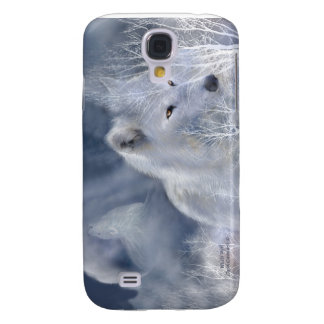 White Wolf Art Case for iPhone 3 Samsung Galaxy S4 Covers