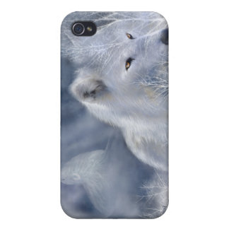 White Wolf Art Case for iPhone 4