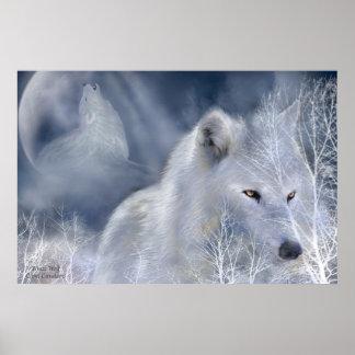 White Wolf Art Poster/Print Poster