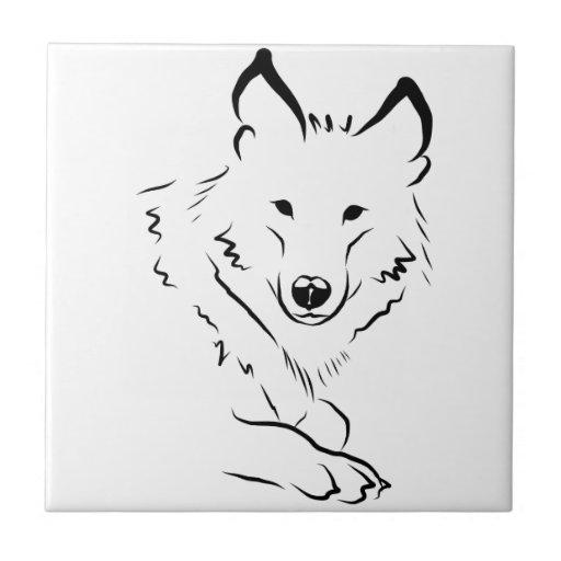 White Wolf Azulejo Cuadrado Pequeño