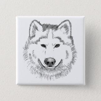 White Wolf Button