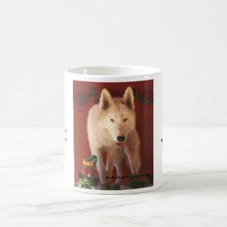 White Wolf Christmas Mug