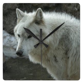 White Wolf Square Wallclock