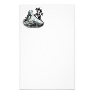 White Wolf con efectos de escritorio del perrito Personalized Stationery