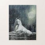 White Wolf con rompecabezas del perrito