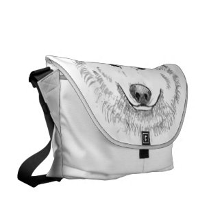 White Wolf Courier Bag