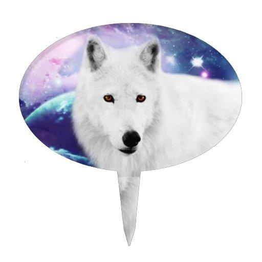 White Wolf Decoración Para Tarta