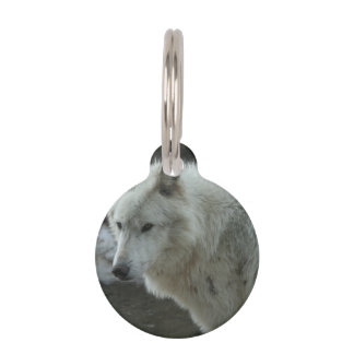 White Wolf Pet ID Tags