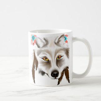 White Wolf Face Mug