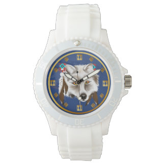 White Wolf Face Watches