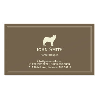 White Wolf Forest Ranger Business card