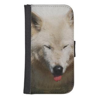 White Wolf Funda Tipo Billetera Para Galaxy S4