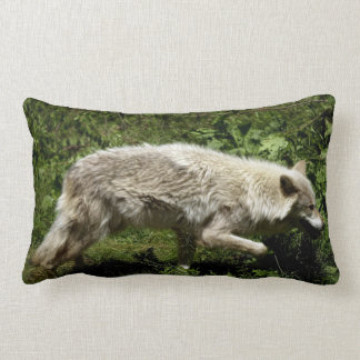 White Wolf Grey Wolf in the Wilderness Pillows