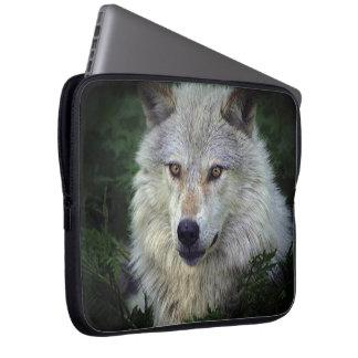 White Wolf,Grey Wolf,  Wild Animal, Canine Laptop Sleeve