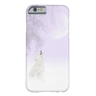 White wolf howls at the moon barely there iPhone 6 case