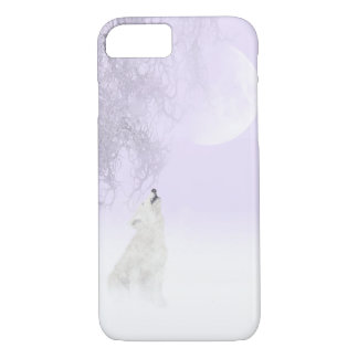 White wolf howls at the moon iPhone 7 case