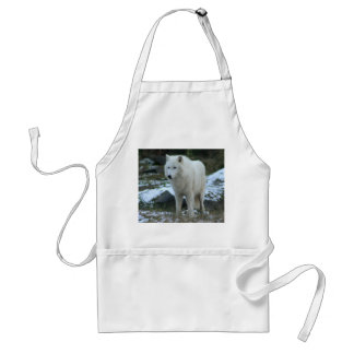 White Wolf in Winter Adult Apron