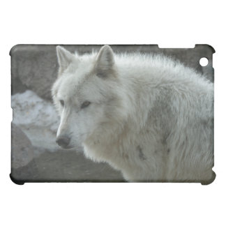 White Wolf Cover For The iPad Mini