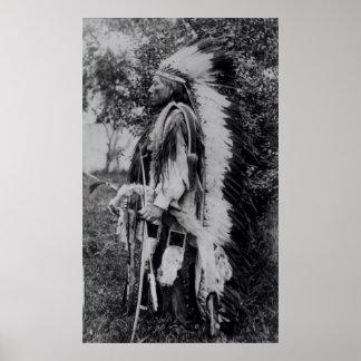 White Wolf jefe del Comanche c 1891-98 Impresiones