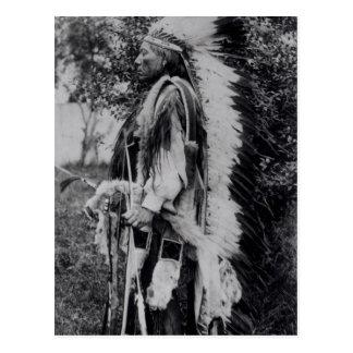 White Wolf, jefe del Comanche, c.1891-98 Postal