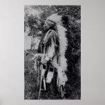 White Wolf, jefe del Comanche, c.1891-98 Póster