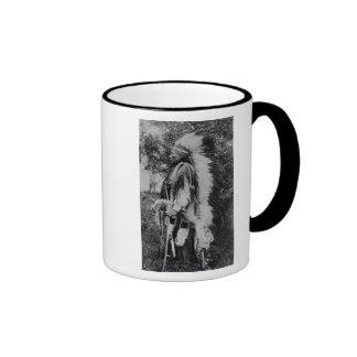 White Wolf jefe del Comanche c 1891-98 Taza De Café