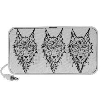 White Wolf Laptop Altavoz