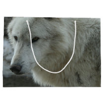 White Wolf Large Gift Bag