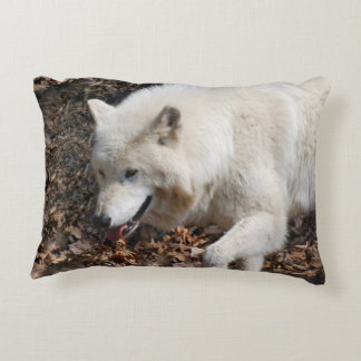 White Wolf lindo Cojín Decorativo