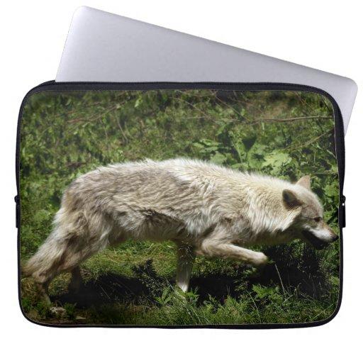 White Wolf, lobo gris, animal salvaje, canino Manga Portátil