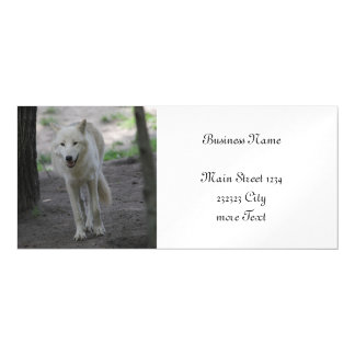 white wolf magnetic card