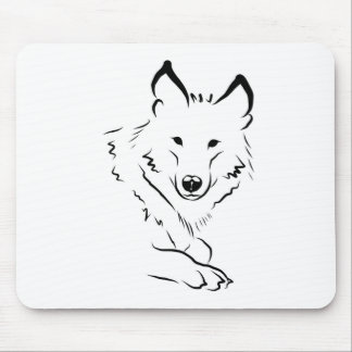 White Wolf Mouse Pad