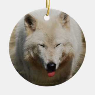 White Wolf Christmas Tree Ornaments