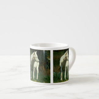 White Wolf Painting Espresso Cup